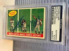The Finest 1959 Topps Willie Mays ' The Catch' Signed Baseball Card PSA DNA COA