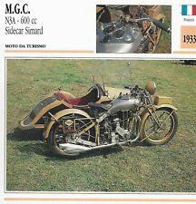 M.G.C. n3a - 600 cc sidecar simard moto da turismo - francia 1933 - de agostini