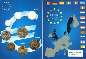 EURO PORTUGAL 2003  SERIE COMPLETE 10C A 2 € NEUVE
