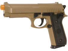 M92 Desert Warrior War Inc Airsoft Pistol Full Metal Slide Tan BAX