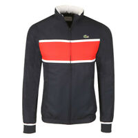 BNWT LACOSTE MEN'S WH2081 SPORT TENIS RED / NAVY / WHITE TOP TRACKSUIT SIZE 3 S