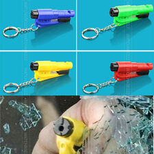 Car Safety Escape Rescue Hammer Seat Belt Pads Cutter Window Breaker Key Ring