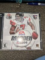 Madden 2004 PC Video Game 2 Disc CD Rom Set EA Sports NFL Michael Vick Football