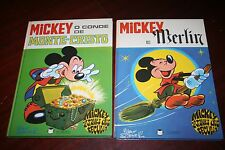 Lot 2 Mickey through the Ages - portuguese comics
