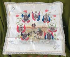 More details for 5298 a great war printed and embroidered silk souvenir of egypt