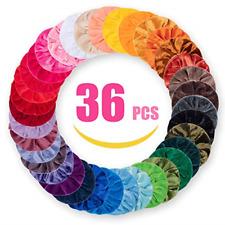 Velvet Hair Scrunchies 36 Pack, Hair Scrunchies for Women/Girls/Lady/Children,