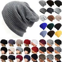 Unisex Women's Men's Knitted Knit Winter Warm Ski Slouch Hat Cap Beanie Fashion
