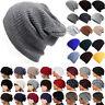 Womens Mens Bubble Knit Slouchy Baggy Beanie Oversize Winter Hat Ski Skull Cap