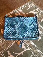 VERA BRADLEY HANGING BLUE MAKEUP/JEWELRY BAG