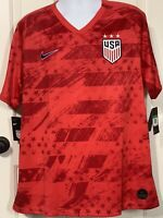 NEW Nike Team USA Soccer Official Jersey Red White Blue Away Futbol $90 Mens XL