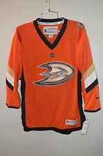 NWT Reebok Anaheim Mighty Ducks Hockey Orange Alternate Jersey Youth L XL $105