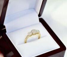 Yellow Diamond Three-Stone Fine Rings
