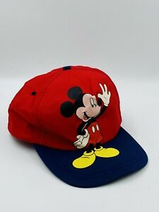 Vintage MICKEY Mouse Hat Mickey UNLIMITED Red & Blue SNAPBACK HAT Disney