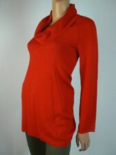 Jones New York Signature Red Cowl Neck Oversized Long Sweater S 4 6 NEW A907