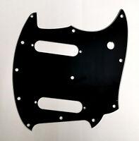 Guitar Parts For Fender American Performer Mustang Guitar Pickguard, 3Ply Black