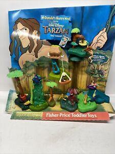 McDonalds Tarzan Happy Meal Display and Toys