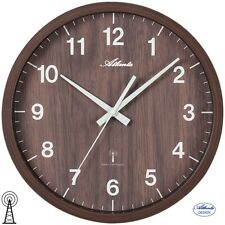 Atlanta 48 reloj de pared radio radio reloj de pared reloj de cocina bürouhr marrón 428
