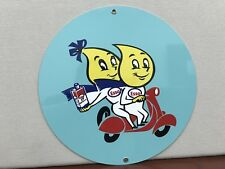 ESSO Scooter oil garage man cave racing gasoline Metal round sign