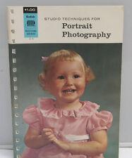 Kodak Studio Portrait Techniques Booklet Guide O-4 1967 English - USED B112
