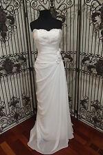 50 EDEN SL026  WHITE SZ 8 OLD HOLLYWOOD GLAMOUR  FORMAL WEDDING GOWN DRESS