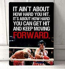 Rocky Balboa vs Ivan Drago Boxing inspirational film quote A4 Metal sign