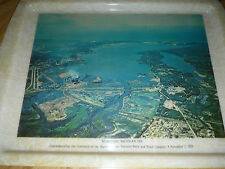 45 yr old VINTAGE 1970 Souvenir Tray MUSKEGON MICHIGAN 100yrs HACKLEY UNION BANK