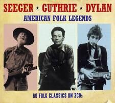 PETE SEEGER - WOODY GUTHRIE - BOB DYLAN - AMERICAN FOLK LEGENDS (NEW SEALED 3CD)