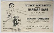1957 Turk  Murphy, Barbara Dane Jazz Concert    Ad