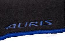 Genuine Toyota Auris Anthracite Textile Floor Mats Full Set Blue Trim 2012-2018