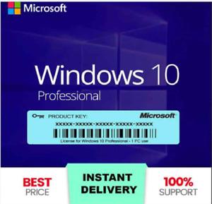 WIN 10 Pro Professional️ Instant Activation ✔️ PLUS 64-32 bit Genuine🔑KEY🔑1PC