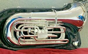 John Packer JP379CCS Sterling 4/4 CC Tuba in Silver Plate with Case Open Box