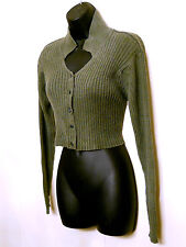 "Cropped Belly Button Naval Top 40"" bust Ribbed Knit Sweater missing tag VTG 80s"