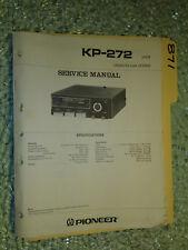 Pioneer kp-272 service manual original repair book stereo car radio tape deck