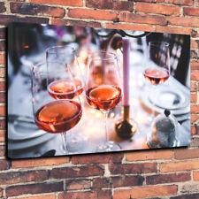 """Rose Wine STAMPA FOTO SU TELA A1.30""""x20"""" 30 mm di profondità, Wall Art CUCINA, BAR"""