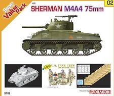 Dragon 1/35 9102 Sherman M4A4 75mm w/DS Track&Figures Model Kit/Maquette TDD297