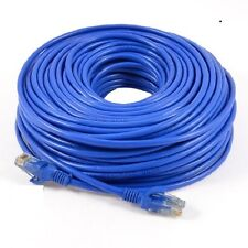30m Metre Ethernet CAT 5e RJ45 PATCH Network Cable BLUE Internet Wire Lead