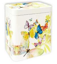 Scatola Farfalla grande, colorato, 116 x 81 x 116 mm, Latta del tè, pappilon