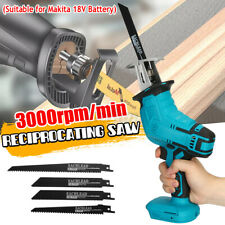 Cordless Electric Reciprocating Saw Outdoor Saber Cutting For Makita 18V Battery