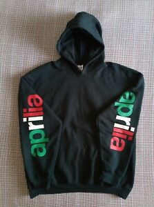 APRILIA SPELL OUT SLEEVE HOODIE : SIZE XL HIPSTER 90S RETRO STYLE 80S