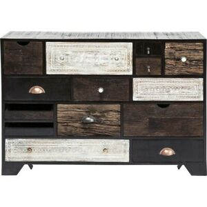 Vivid Noir Contemporary chest of 14 drawers (MADE TO ORDER)