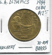 New listing Token: Archery, LA Olympics, 1984, CH BU, 30mm Brass