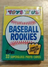 1989 TOPPS TOYS R US 33 CARD BASEBALL ROOKIES SET: FACTORY SEALED Gary Sheffield