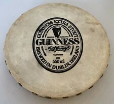 "Vintage Malachy Kearns Guinness Bodhran 8"" Irish Drum, Goat Skin And Wood"
