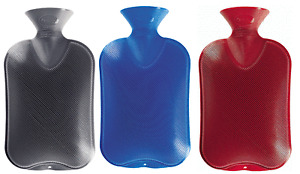 Fashy Latex Free 2.0L Double Ribbed Hot Water Bottle