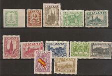 Edifil 802/813*  Junta de Defensa Nacional  1936-1937   NL600
