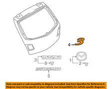 MAZDA OEM 04-09 3 Trunk Lid-Emblem Badge Nameplate BN8V51721A