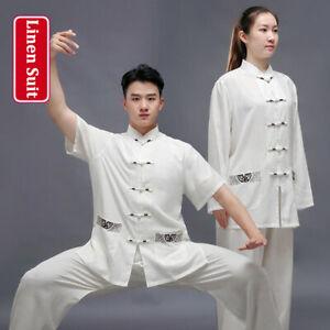 Linen Martial Arts Tai Chi Uniform Bruce Lee Kung Fu Wingchun Suit Wushu Clothes