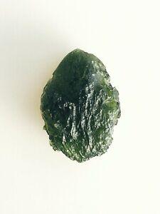 Moldavite 7g 35ct  Egg Drop Shape&Forest Green Transparent Color AAA Sculptation