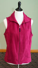 Columbia Sportswear Women's Full Zip-Up Thermal Layer Fleece Vest Purple Size M