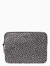 NWT Kate Spade Black & White 'Musical Dots' Print Laptop Case